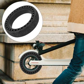 Suitable For Xiaomi M 365 / M 365 Pro Electric Scooter Hollow Solid Explosion-Proof Tire Made Of High-Quality Plastic suitable for xiaomi m365 electric scooter solid honeycomb explosion proof stab proof tire free inflatable rubber tire 8 5 2 0