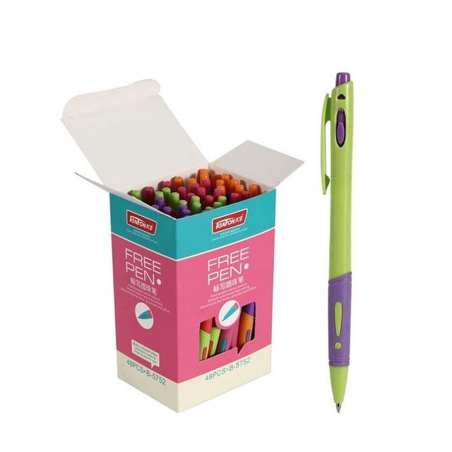 10 Pcs/lot Cute 0.7mm Ballpoint Pen Blue Ink Office Accessories Material Escolar Writing Supply Mark Ball Pen Stationery