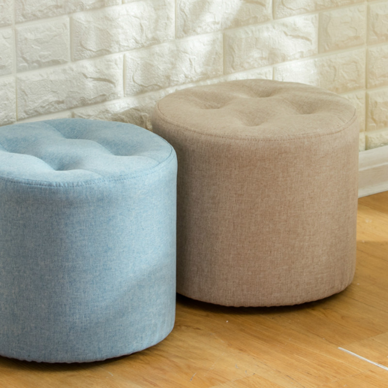 Small Fashionable Sofa Stool Household Solid Wood Creative Small Bench Sitting Adult Cloth Art Vanity Chair Couch