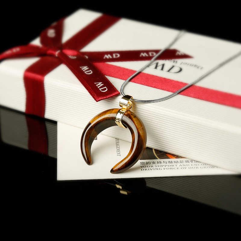 1 шт. стильные ювелирные изделия в виде полумесяца, кулон, ожерелье, минералы, лечебные кристаллы, роза, кварцевые, праздничные, вечерние, сделай сам, подарок
