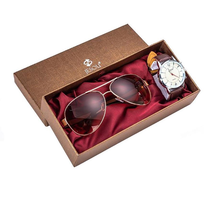 Man Watch Gift Set With Box Sunglasses Watch Mens Watches Luxury Quartz Wrist Watch Set for Boyfriend for Dad New Year's gift