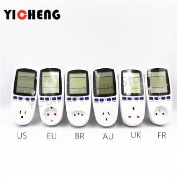 EU US UK Meter electricity monitoring electricity voltage power metering socket type mete watt meter power analyzer kwh