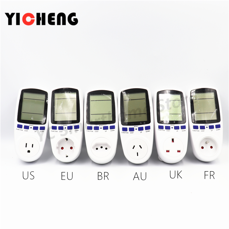 EU US UK Meter Electricity Monitoring Electricity Voltage Power Metering Socket Type Mete Watt Meter Power Analyzer Kwh