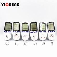 EU US UK Meter electricity monitoring voltage power metering socket type mete watt meter analyzer kwh