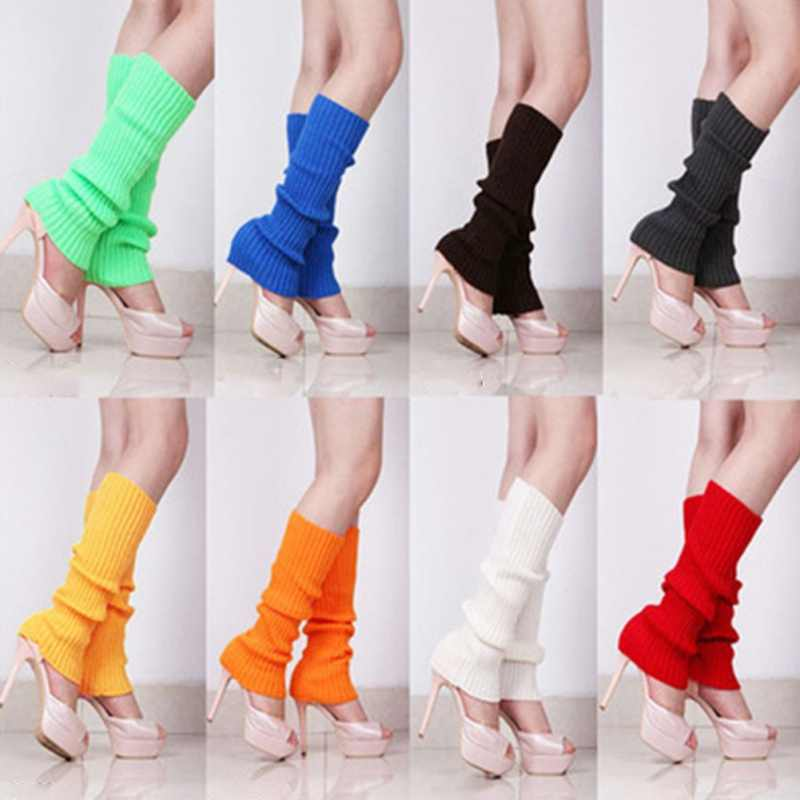 Autumn Winter Stockings  Women Knitted Leg Warmer Solid Color Korean Warm Boot Stocking Outdoor Leg Warmer
