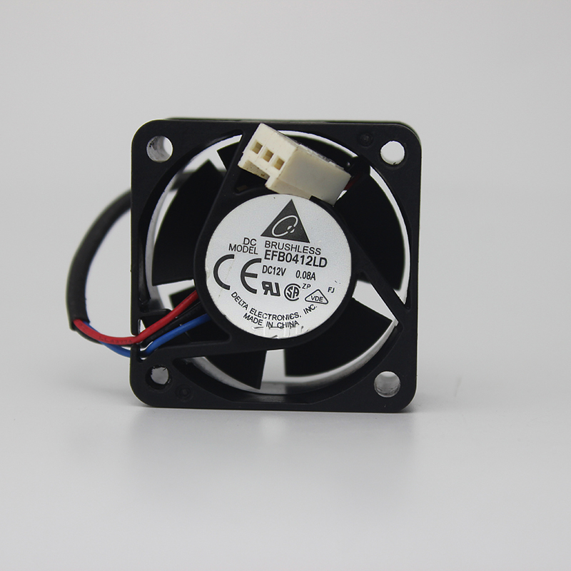 for delta EFB0412LD <font><b>4020</b></font> <font><b>12V</b></font> 0.08A 4CM 1U mute switch chassis power supply fan image