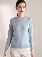 100% Cashmere Sweater Women O neck Long Sleeves Autumn Winter Sweater Women's Knitting Jumper Female hedging Sweater