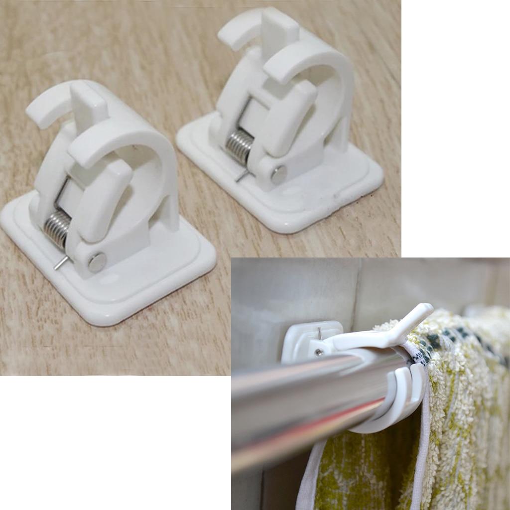 self adhesive curtain rod holder