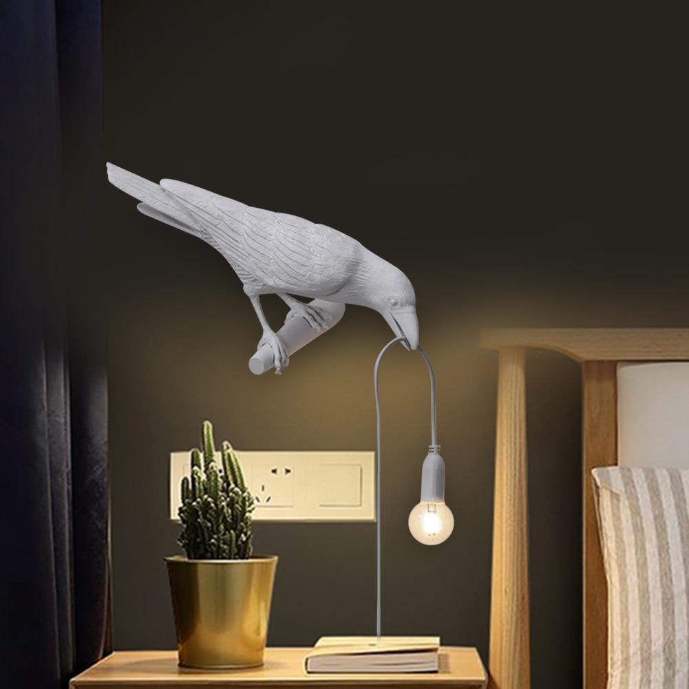 Fast Deliver Restaurant Decor Lamp Vintage Cover Designer Bird Led Wall Mounted Light Living Room Bedside Bulb Guard Lamp Pendant Desk Lamps