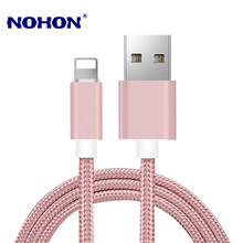 1M 2M 3M Dikepang USB Kabel Charger untuk iPhone 5 5S 6 6S 7 8 ditambah 11 Pro XS Max XR X iPad Mini 2 3 Cepat Pengisian USB Kabel Data(China)