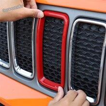 Lapetusใส่ด้านหน้ารถแข่งลูกกรงVent TrimแหวนTrim FitสำหรับJeep Renegade 2019 2020 ABSอุปกรณ์เสริมภายนอก