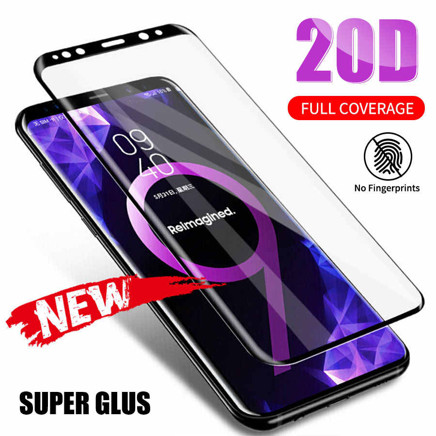 20D Full Curved Tempered Glass For Samsung Galaxy S8 S9 Plus Note 8 9 Screen Protector For Samsung A8 A6 2018 S7 Protective Film