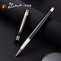 Pimio 903 Smooth Black with Gold Clip Rollerball Pen Luxury Metal Ballpoint Pens for Writing with Original Gift Case