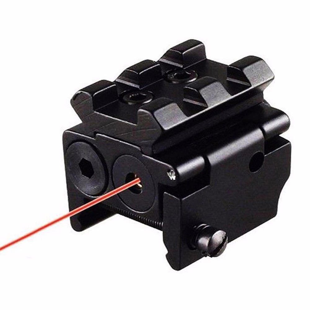Hot High Quality Adjustable Red Laser Sight with 20mm Rail Mount Fit for Glock 17 19 Pistol Guns Glock Hunting Accessory-2