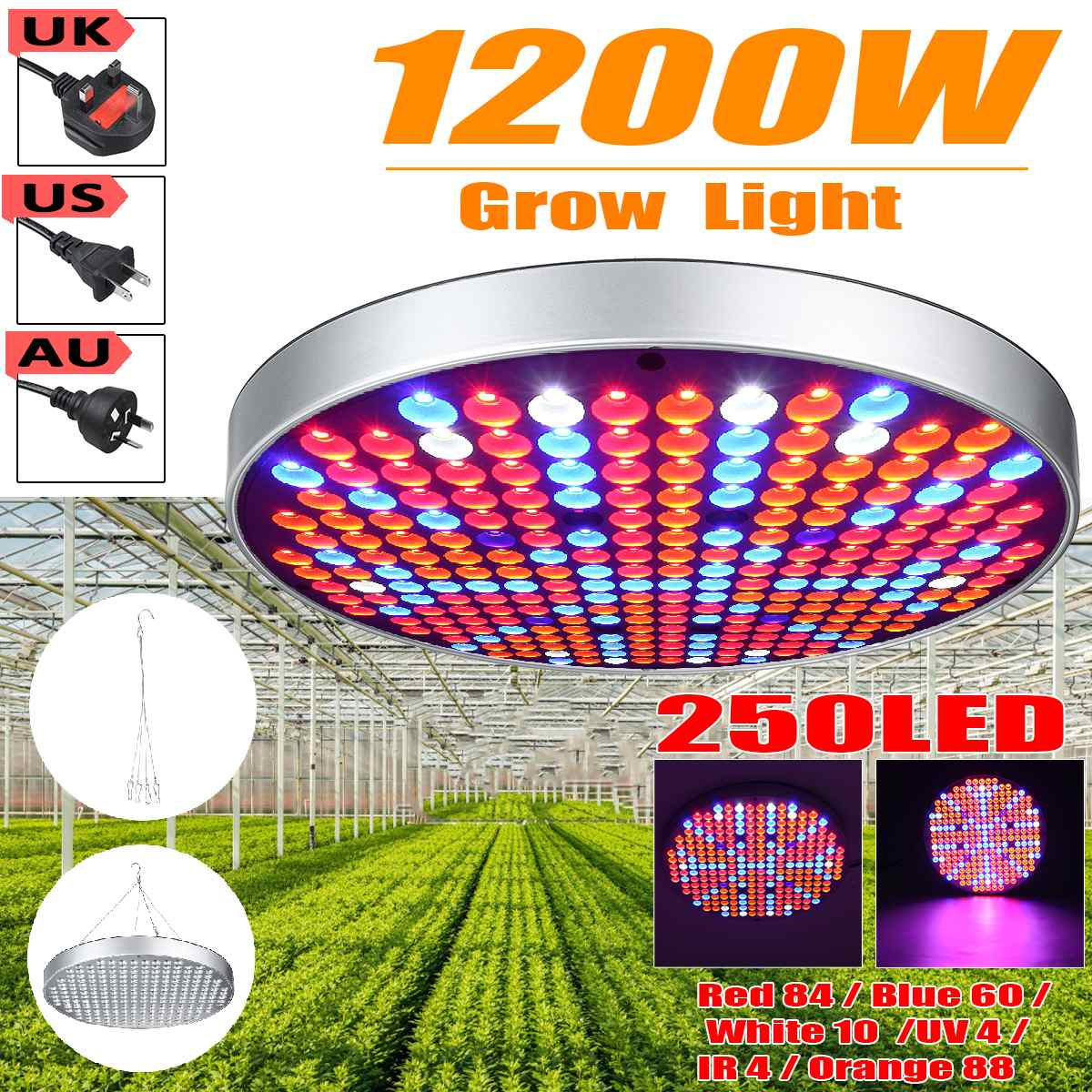 1200W Growing Lamps LED Grow Light AC85-265V Full Spectrum Plant Lighting Fitolampy For Plants Flowers Seedling Cultivation