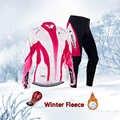 Donne abbigliamento ciclismo set 2019 Inverno Termico del Panno Morbido bike jersey della bicicletta Caldi dei vestiti delle signore vestito mtb vestito di sport corpo uniforme
