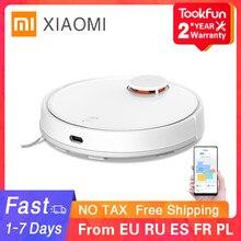 Xiaomi mijia varrendo esfregar robô aspirador de pó lavagem para casa automático poeira esterilizar ciclone sucção wi fi inteligente planejado