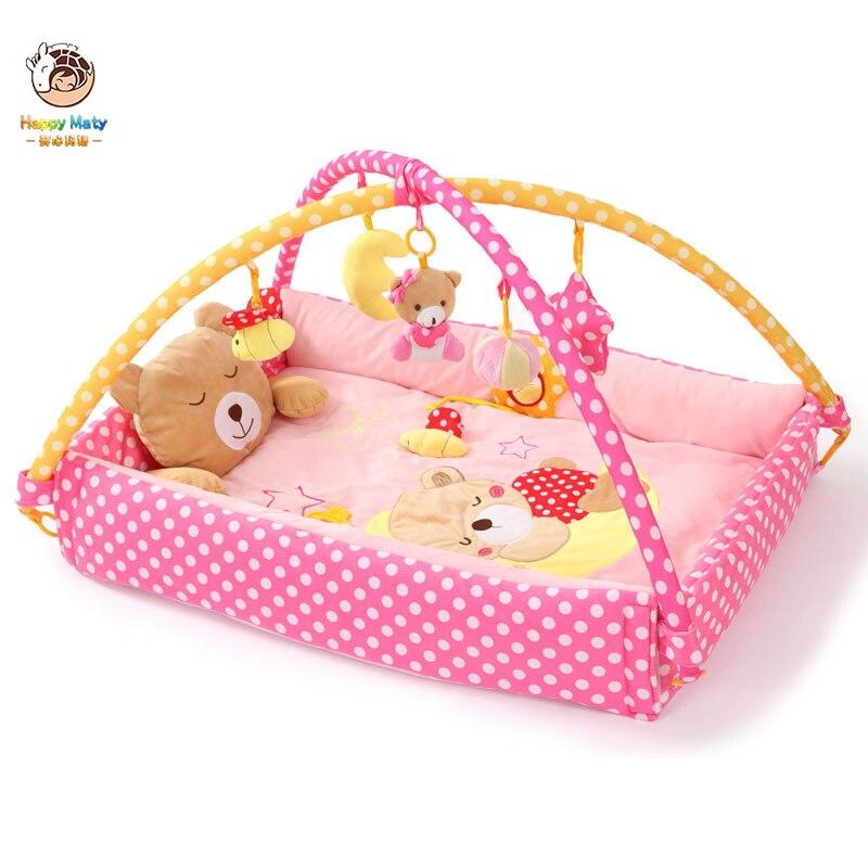 Tapis de jeu bébé couverture de jeu princesse Prince activité infantile tapis de jeu ramper tapis de jeu Mobile lit bébé jouets support de literie