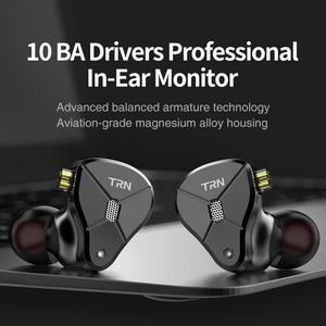 Image 5 - Date TRN BA5 10BA écouteur 5 Armature équilibrée HIFI moniteur Sport métal casque détachable câble TRN V90 V80 ZSX C12 AS10 ZS10