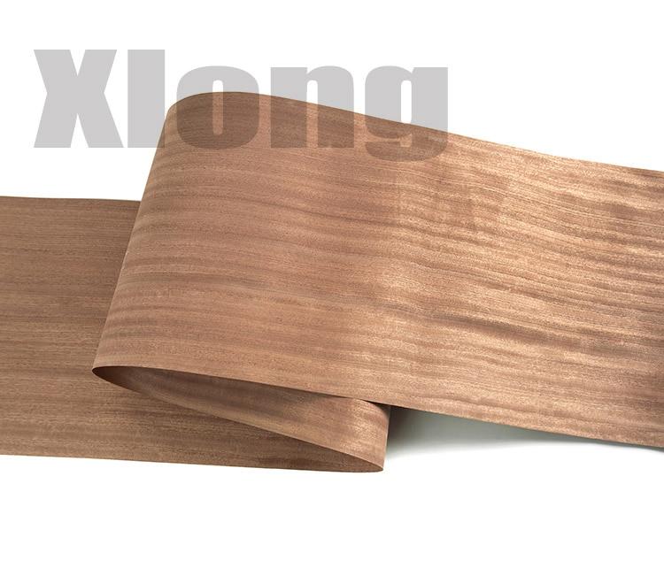 L:2.5Meters Width:400mm Thickness:0.5mm Imported Natural Sabili Wood Veneer Speaker Veneer