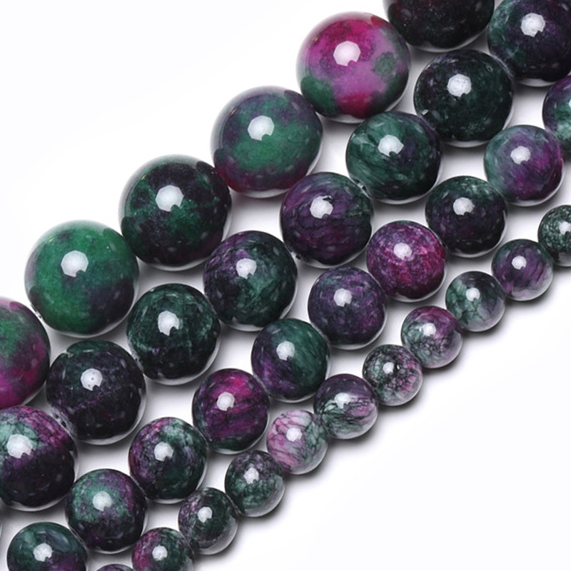 Wholesale Tourmaline Persian Jades Natural Stone Bedas for Jewelry Making Loose Spacer Round Beads Diy Necklace 6/8/10/12mm 15
