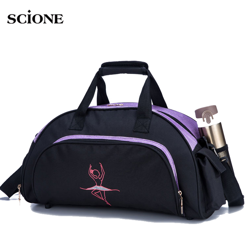 Dance Girl Gym Bag Women Yoga Mat Bags For Fitness Training Sports Handbag Shoulder Tas Dancing Gymtas Sporttas Tas 2020 XA769WA