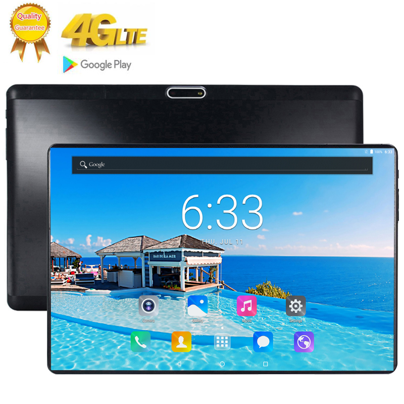 2020 Tablet Pc 10.1 Inch 10 Core Android 9.0 Google Play 3G 4G LTE Phone Call Tablets WiFi Bluetooth GPS 2.5D RAM 6GB Rom 128GB