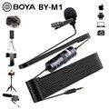 BOYA BY-M1 De Audio De 3,5mm De Vídeo De Solapa De Clip Micrófono Para IPhone Android Mac Blog Micrófono Para Cámara DSLR Grabadora