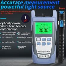 2 in 1 VFL10mW Visual Fault Locator Fiber optic test pen FTTH Fiber Optic Tool Kit AUA 7 Fiber Optical Power Meter  70 ~+ 10dBm