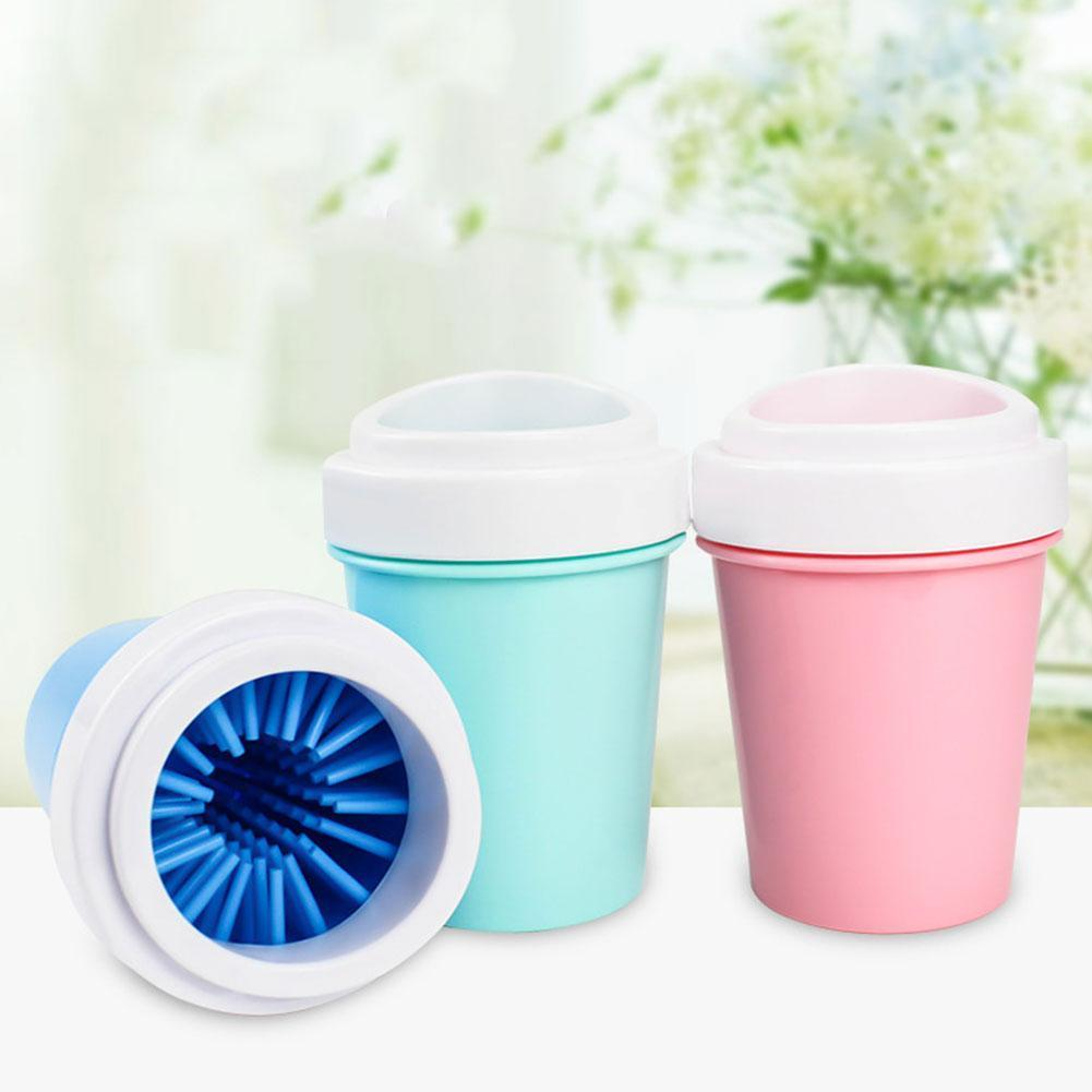 Soft Silicone Pet Foot Washer Cup <font><b>Dog</b></font> <font><b>Paw</b></font> <font><b>Cleaner</b></font> Cup <font><b>Paw</b></font> Wash Combs Clean Cleaning Quickly Portable Foot Outdoor Brush Buc P2Q5 image
