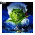 IOOSTAR алмазная живопись полный квадрат/круглый Grinch фильм плакат вышивка крестиком полная дрель Алмазная вышивка 5D DIY Рождественский подарок