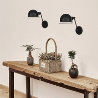 Americanpersonality Retro Folding wall light Black/Rust color LED E27 Simple Living room lights decoration luster  wall lamp|LED Indoor Wall Lamps| |  -