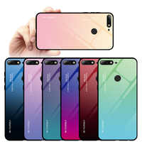 Tempered Glass Case for Huawei Honor 9 20 Lite 10i 20i Note 10 View 20 Gradient Cover for Honor 10 Light 8X Max 8A 7C 7A
