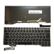New RU keyboard FOR Fujitsu Lifebook E733 E734 E743 E744 keyboard Backlit Russian laptop keyboard