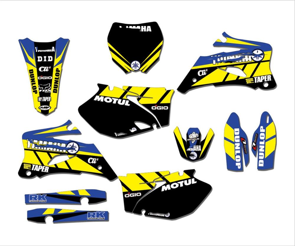 Kit Team-Graphics YZ250F STICKERS DECALS Yamha 2007 for Yz250f/Yz450f/2006/.. BACKGROUNDS