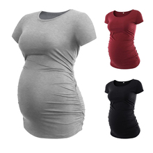 Jacket Short-Sleeve T-Shirt Maternity-Clothes Casual Vest Solid Care Round-Neck Comfort