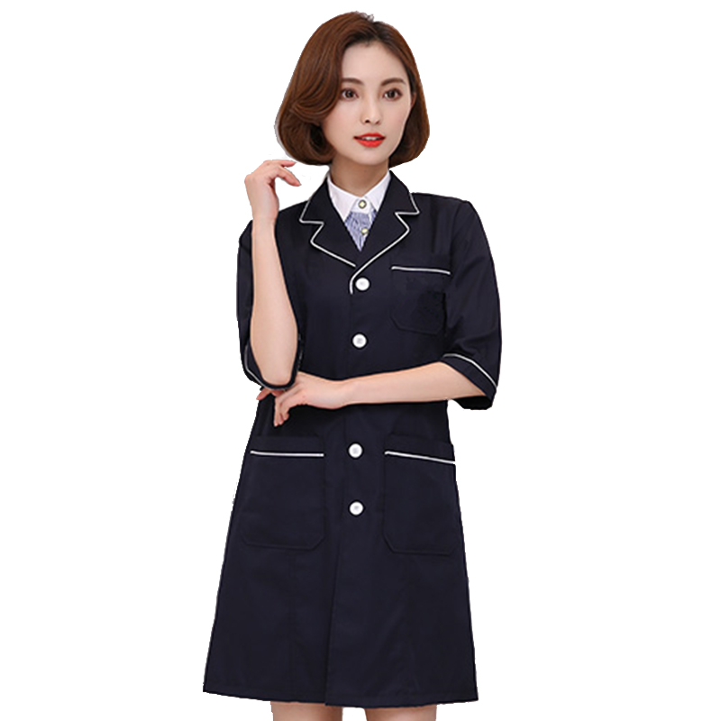 Medical Robes Lab Coat Hospital Women Work Dress Korea Cosmetic Surgery Sales Beauty Salon Uniform Pharmacy Clothing