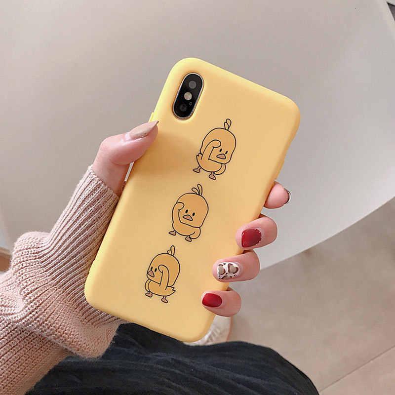 Mới Hoạt Hình Nhỏ Vịt Vàng Điện Thoại Di Động Dành Cho IPhone11 X XS XR Xsmax 8 7 6 6S 6S Plus silicone Chống Thả Vỏ Bảo Vệ