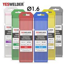YESWELDER вольфрамовый электрод Профессиональный TIG стержень 1,0, 1,6, 2,4, 3,2, 4,0 мм для TIG сварочный аппарат/TIG фонарь