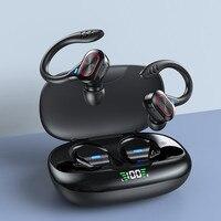 Auricolari Wireless TWS cuffie sportive Stereo HiFi impermeabili Display a LED cuffie compatibili con Bluetooth auricolari con microfono