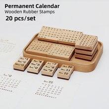 Yoofun 20 шт/компл Постоянный Календарь деревянные и резиновые