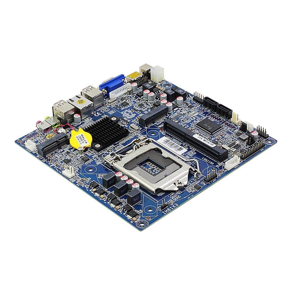 Placa-mãe de mesa itx intel h81 lga 1150 soquete usb2.0 sata2.0 pci-e ddr3 i3 i5 i7 processador de memória velho mainboard