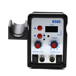 Image 2 - Паяльная станция 8586, паяльник с корпусом BGA, системой SMD с вентиляторным воздухонагревателем, умным обнаружением и сваркой холодным воздухом