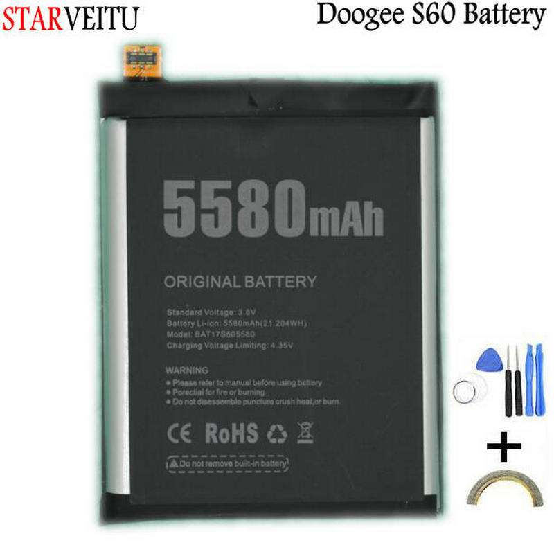<font><b>Battery</b></font> Original For <font><b>Doogee</b></font> <font><b>S60</b></font> & <font><b>S60</b></font> lite Replacement <font><b>Batteries</b></font> Rechargeable Li-polymer Bateria 5580mAh Tested+Repair tools image