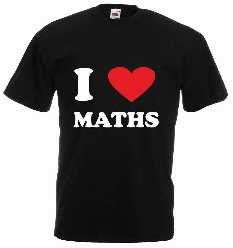 Aku Suka (Jantung) Matematika Pria Dicetak T-shirt