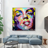 Hand painted Nielly Francoise Artwork Oil painting Wall Moonlight Women Face Art Home Decoration Abstract portrait Oil Painting