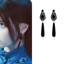 Vintage black DEL LUNA Hotel IU Korean dramas TV Fashion Eardrop Elegant For Women Earrings pendientes brincos ornament