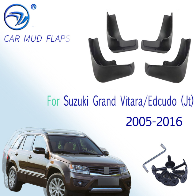 4 adet/takım araba çamur Flaps çamurluklar Suzuki Grand Vitara / Edcudo (JT) 2005 2016 Splash muhafızları 2010 2011 2012 2013 2014 2015