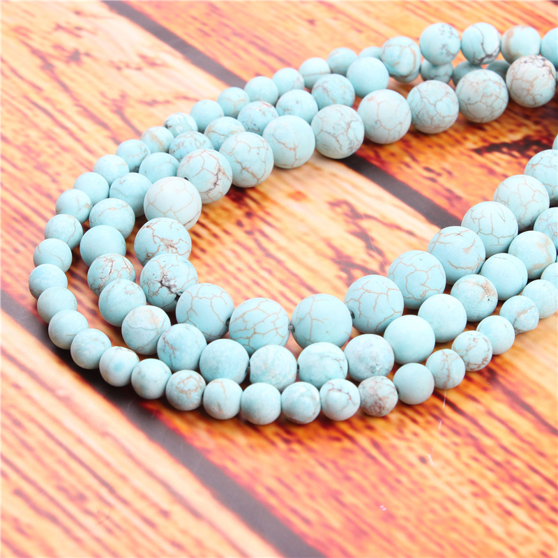 Natural Pine Natural Stone Bead Round Loose Spaced Beads 15 Inch Strand 4/6/8/10/12mm For Jewelry Making DIY Bracelet
