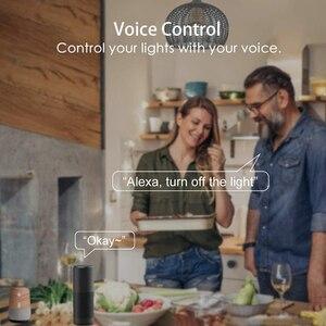 Умсветильник Светодиодная лампа 20 Вт RGB с регулируемой яркостью светильник изменением цвета, работает с приложением Alexa/Google Home Wifi Bluetooth или дистанционным управлением|Светодиодные лампы и трубки|   | АлиЭкспресс